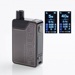 Authentic SMOKTech SMOK Fetch Mini 40W 1200mAh VW Box Mod Pod System Starter Kit - Dark Brown, PCTG + Glass, 3.7ml, 5~40W