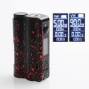 Authentic DOVPO Topside 90W TC VW Variable Wattage Squonk Box Mod - Black + Red, 10ml, 1 x 18650 / 21700