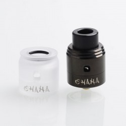 Authentic Aivape Ohana RDA Rebuildable Dripping Atomizer w/ BF Pin - Black, Stainless Steel, 24mm / 25mm Diameter