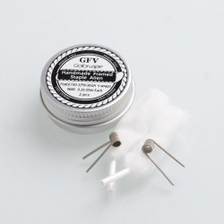 Authentic Goforvape Ni80 Handmade Framed Staple Alien Wire Pre-built Coil for RTA - (0.1 x 0.3) x 8 + 36GA, 0.26ohm (2 PCS)