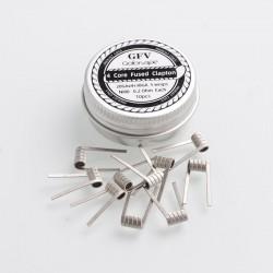 Authentic Goforvape Ni80 4 Core Fused Clapton Heating Wire Pre-built Coil for RDA / RTA - 28GA x 4 + 38GA, 0.2ohm (10 PCS)