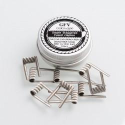 Authentic Goforvape Ni80 Staple Staggered Fused Clapton Wire for RTA - 28GA x 3 + 38GA + 28GA x 2 + 38GA, 0.2ohm (10 PCS)