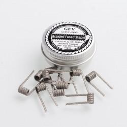 Authentic Goforvape Ni80 Braided Fused Staple Clapton Wire Coil - Flat (0.1x0.3)x8+36GA+38GAx16, 0.26ohm (10 PCS)