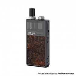 Authentic Lost Vape Orion Q-PRO Q Pro 24W 950mAh Pod System Kit - Ochre / Stabwood, Stainless Steel, 2ml, 0.5ohm / 1.0ohm
