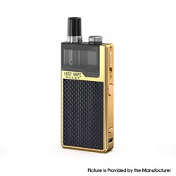 Authentic Lost Vape Orion Q-PRO Q Pro 24W 950mAh Pod System Starter Kit - Gold / Weave, Stainless Steel, 2ml, 0.5ohm / 1.0ohm