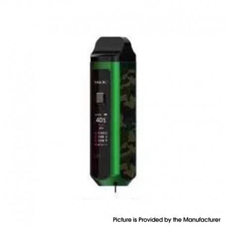 Authentic SMOKTech SMOK RPM40 40W 1500mAh VW Mod Pod System Starter Kit - Green Camouflage, 1~40W, 0.4ohm / 0.6ohm