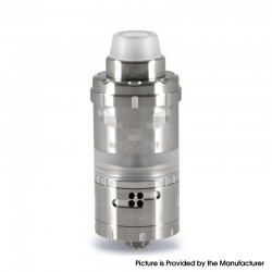 ShenRay Vapor Giant VG Kronos 2S Style DL / MTL RTA Rebuildable Tank Atomizer - Silver, 316 Stainless Steel + PC, 4ml, 23mm Dia.