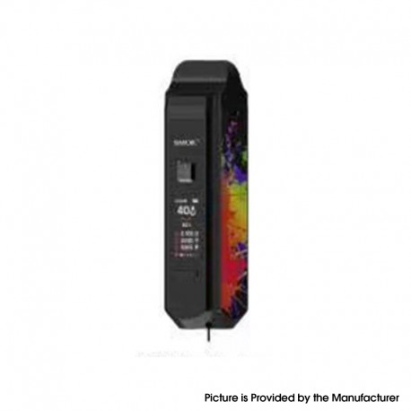 Authentic SMOKTech SMOK RPM40 40W 1500mAh VW Mod Pod System Starter Kit - Black and 7-Color, 1~40W, 0.4ohm / 0.6ohm