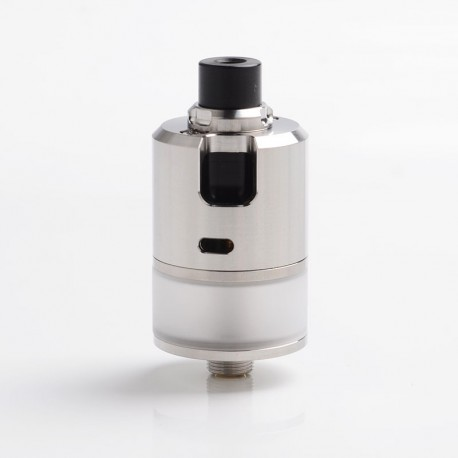 Coppervape BF-99 BF99 CUBE Style MTL RDTA Rebuildable Dripping Tank Atomizer - Silver, 316 Stainless Steel + PC, 22mm Diameter