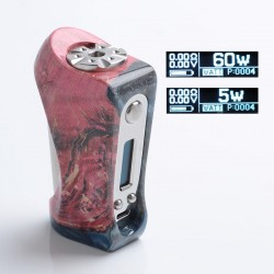 Authentic Ultroner Victory 60W VV VW Variable Wattage Box Mod - Red Black, Stabilised Wood + SS, 5~60W, 1 x 18650