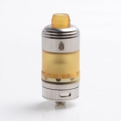 Coppervape Hussar Style Single Coil RTA Rebuildable Tank Atomizer w/ Mirco PEI Tank - Silver, 316SS + PEI, 2.5ml, 22mm Diameter