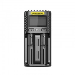 Authentic Nitecore UMS2 USB Charger for 10440, 14500, 14650, 16500, 1634(RCR123), 18350, 18490, 18500, 18650 Battery - Black