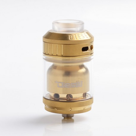 Authentic Timesvape Diesel RTA Rebuildable Tank Atomizer - Gold, Stainless Steel, 2ml / 5ml, 25mm Diameter