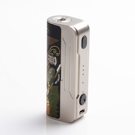 Authentic Hippovape Papua 100W VW Variable Wattage Box Mod - Silver, 3~100W, 1 x 18650 / 20700 / 21700