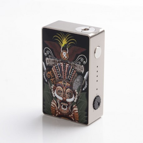 Authentic Hippopvape VIVA 245W VW Variable Wattage Box Mod - SS, Zinc Alloy, 10~245W, 2 x 18650