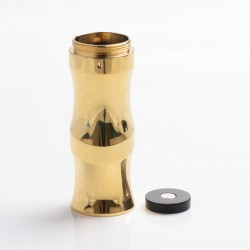Authentic Timesvape Keen Mechanical Mech Mod Extend Stacked Tube - Brass, Brass, 1 x 18650 / 20700 / 21700