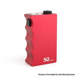 Authentic Dovpo Topside SQ Squonk BF Mechanical Box Mod - Red, Aluminium, 12.5ml