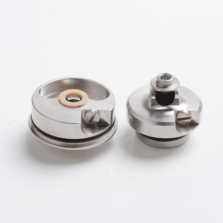 YFTK LE TB Style MTL RDA Rebuildable Dripping Atomizer w/ BF Pin - Silver, 316 Stainless Steel + PEI, 22mm Diameter