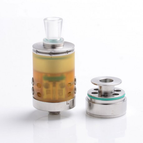 Authentic Footoon Aqua Pro RTA Rebuildable Tank Atomizer - Silver, Stainless Steel + PC, 2ml / 4ml, 22mm Diameter