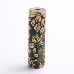 Match Stick Style Hybrid Mechanical Mod - Brass + Black, Brass, 1 x 18650