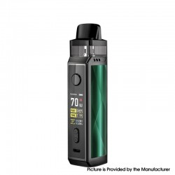 Authentic Voopoo VINCI X VW Box Mod Pod System Starter Kit - Drazzling Green, Zinc Alloy + PCTG, 0.3 / 0.6ohm, 5~70W, 1 x 18650