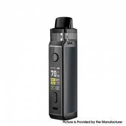 Authentic Voopoo VINCI X VW Box Mod Pod System Starter Kit - Space Gray, Zinc Alloy + PCTG, 0.3ohm / 0.6ohm, 5~70W, 1 x 18650
