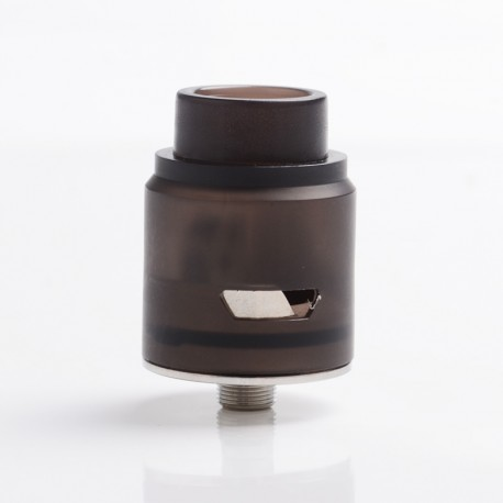 Head V2 Style RDA Rebuildable Dripping Atomizer - Black, PC + 316 Stainless Steel, 24mm Diameter