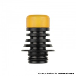 Authentic Reewape AS278 510 Replacement Drip Tip for RDA / RTA / RDTA / Sub-Ohm Tank Atomizer - Black + Yellow, 21mm