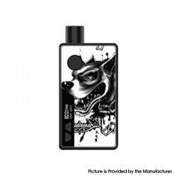 Authentic Rincoe Manto 80W VW Box Mod AIO Pod System Starter Kit - Devil Dog, Aluminum Alloy, 3ml, 1~80W, 1 x 18650
