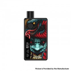 Authentic Rincoe Manto 80W VW Box Mod AIO Pod System Starter Kit - Snakeman, Aluminum Alloy, 3ml, 1~80W, 1 x 18650
