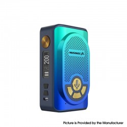 Authentic WISMEC AI Alexa 200W TC VW Variable Wattage Box Mod w/ Bluetooth - Indigo Gradient, 1~200W, 2 x 18650