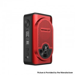 Authentic WISMEC AI Alexa 200W TC VW Variable Wattage Box Mod w/ Bluetooth - Red, 1~200W, 2 x 18650
