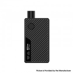 Authentic Rincoe Manto 80W VW Box Mod AIO Pod System Starter Kit - Carbon Black, Aluminum Alloy, 3ml, 1~80W, 1 x 18650