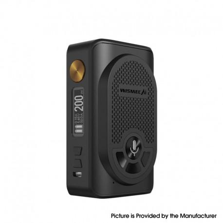 Authentic WISMEC AI Alexa 200W TC VW Variable Wattage Box Mod w/ Bluetooth - Black, 1~200W, 2 x 18650