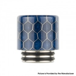 Authentic Reewape AS272 Changeable 810-510 Drip Tip w/ Anti Spit SS Mesh Sheet for RDA / SMOK TFV8 - Blue, Resin, 18mm