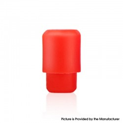 Disposable Replacement 510 Drip Tip for RDA / RTA / RDTA / Clearomizer / Sub Ohm Tank Vape Atomizer - Red, Silicone, 17.5mm