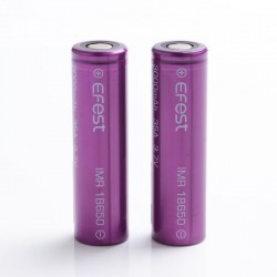 [Ships from Battery Warehouse] Authentic Efest IMR 3000mAh 35A 18650 Rechargeable Lithium Battery for Mod / Mod Kit - (2 PCS)