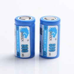 [Ships from Battery Warehouse] Authentic IMREN IMR18350 800mAh 3.7V 18350 Rechargeable Li-Mn Batteries for Mod - (2 PCS)