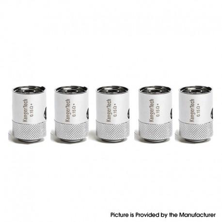 Authentic KangerTech CLOCC TC Ni200 Coil Atomizer Head for Kanger CLTANK 2.0 / CLTANK 4.0 / CUPTI 2 - Silver, 0.15ohm (5 PCS)
