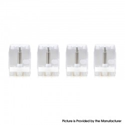 Authentic Shanlaan Laan Lite Replacement Pod Cartridge w/ 1.3ohm Ceramic Coil - Transparent, 1.4ml (4 PCS)