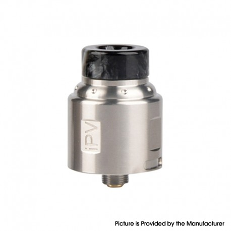 Authentic Pioneer4You IPV Finder RDA Rebuildable Dripping Atomizer w/ BF Pin - Silver, Stainless Steel, 24mm Diameter