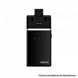 Authentic Nevoks Angus 60W 1700mAh Mesh RDA Starter Kit - Black, Zinc Alloy + PCTG, 0.18ohm / 0.5ohm