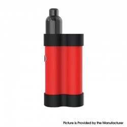 Authentic Gas Mods Mars 15W 750mAh Pod System Starter Kit - Red, Metal + Plastic, 2ml, 1.5ohm / 1.8ohm