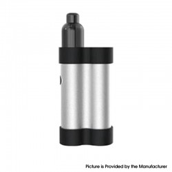 Authentic Gas Mods Mars 15W 750mAh Pod System Starter Kit - Silver, Metal + Plastic, 2ml, 1.5ohm / 1.8ohm