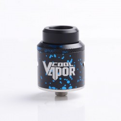 Authentic Cool Vapor MGTK BF RDA Rebuildable Dripping Atomizer - Black Blue, Staniless Steel, 24mm Diameter