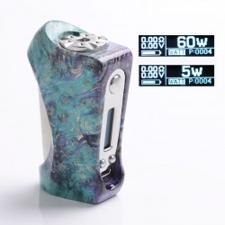 Authentic Ultroner Victory 60W VV VW Variable Wattage Box Mod - Purple, Stabilised Wood + Stainless Steel, 5~60W, 1 x 18650