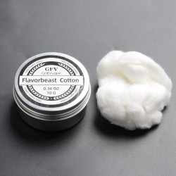 Authentic Goforvape Flavorbeast Organic Cotton for RBA / RDA / RTA / RDTA Atomizer - White, 0.36 Oz (10g)
