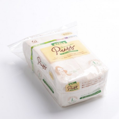 Authentic Puff Rectangle Replacement Organic Cotton Wick for RDA / RTA / RBA Atomizer - White, 6 x 8mm, L Size (120 PCS)