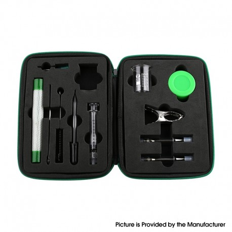 Authentic Demon Killer Terp Done Tool Kit - Beaker + Syringe + Syringe Needle + Dropper + Muddler + Brush + Silicone Mat & Box
