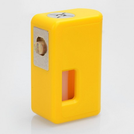 Authentic VGME Mask Bottom Feeder Squonk Mechanical Box Mod - Yellow, ABS, 8ml, 1 x 18650 / 20700 / 21700